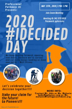Decision Day 2020, Join us May 15 at 2:00 via zoom